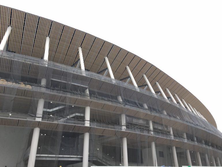 新国立競技場整備事業(第Ⅱ期) 工事中